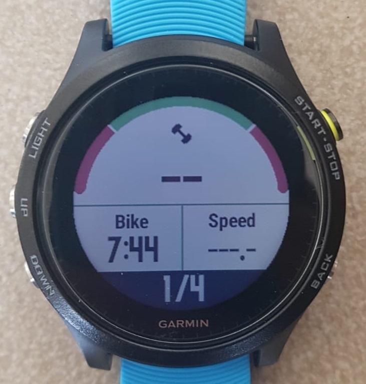 איך נראה השעון באימון אופניים מובנה