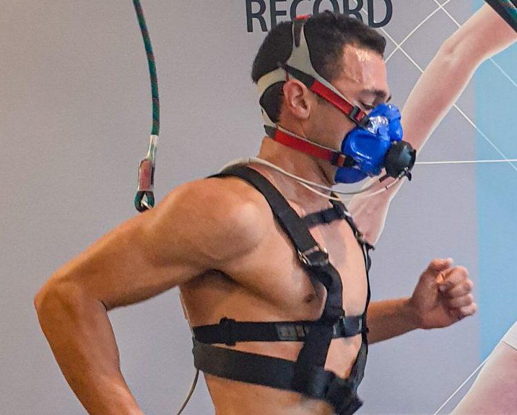 """ספורטאי מבצע בדיקת צח""""מ"""