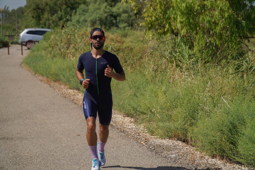 ספורטאי בתחרות ריצה