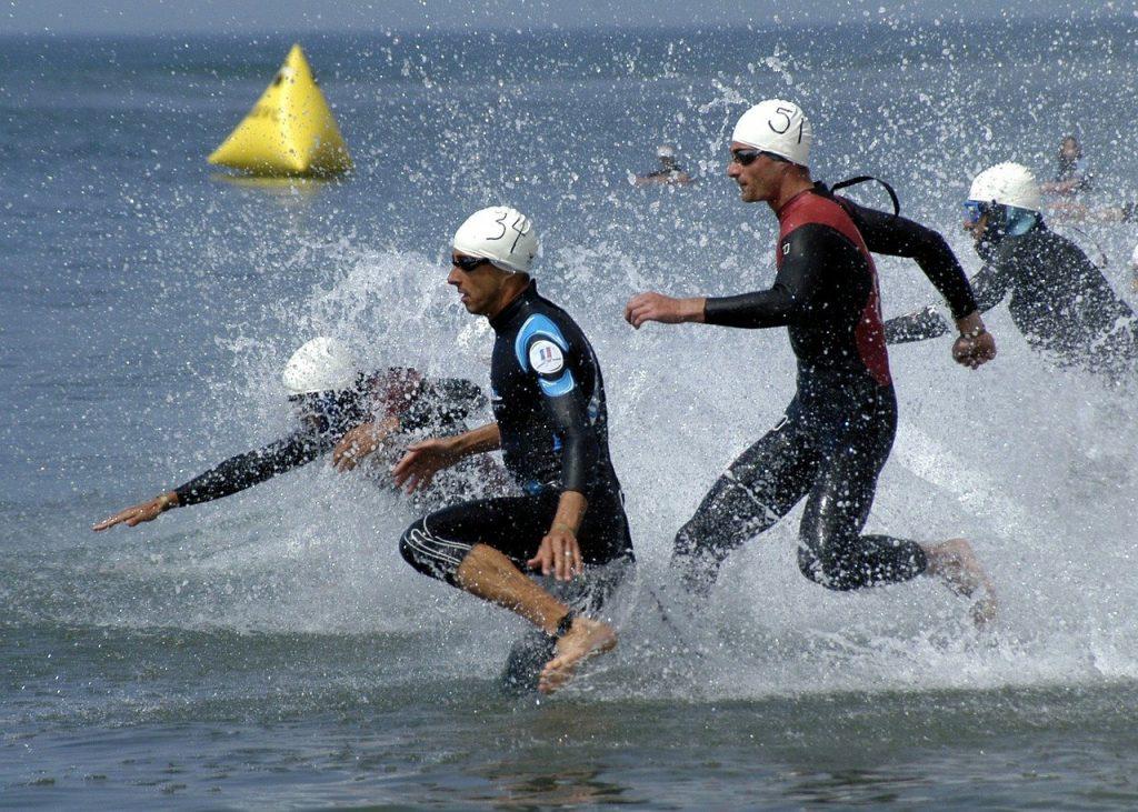 triathlon, swimming phase, grueling